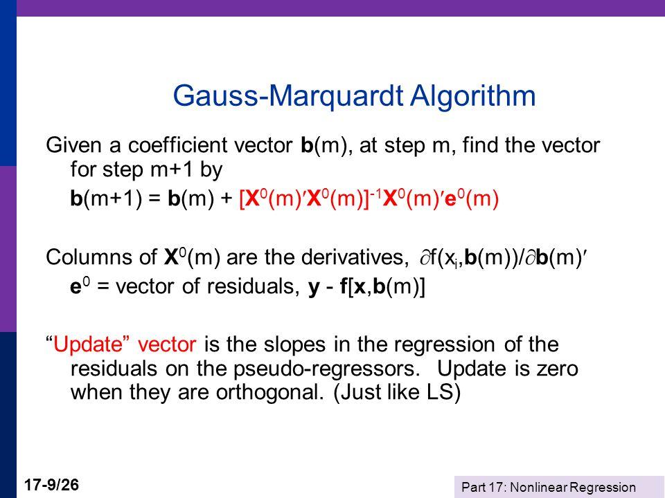 Part 17: Nonlinear Regression 17-10/26