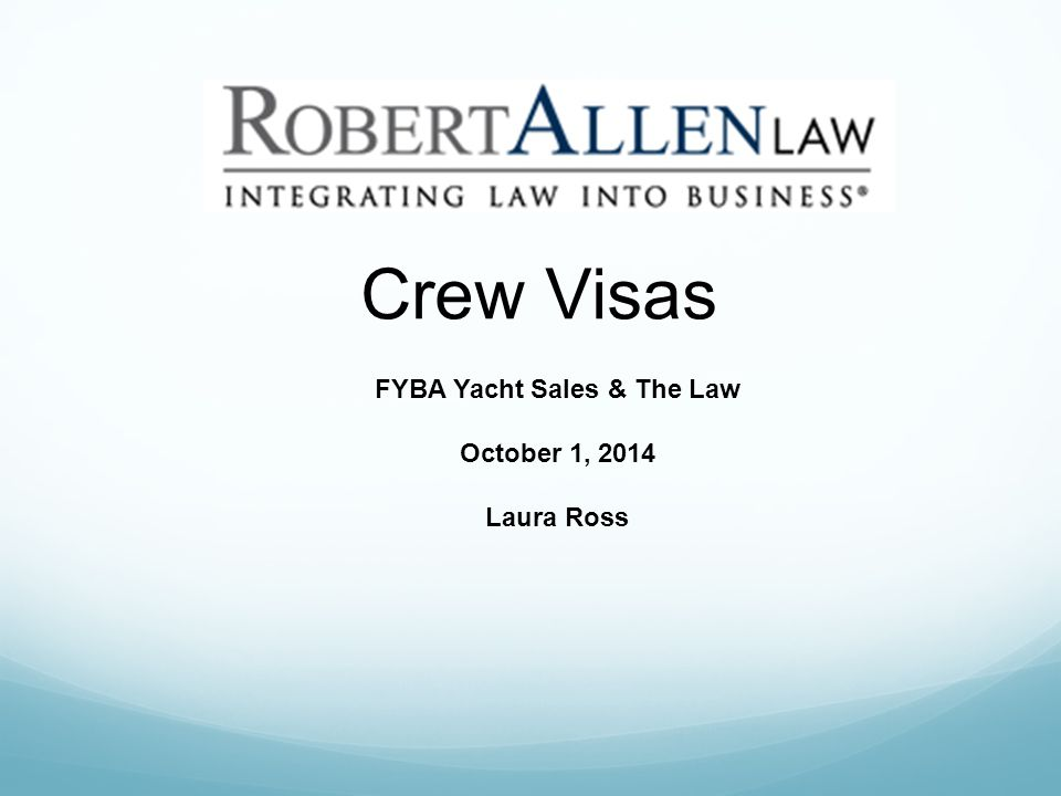 Who needs a visa.All crew and passengers need a visa to enter U.S.