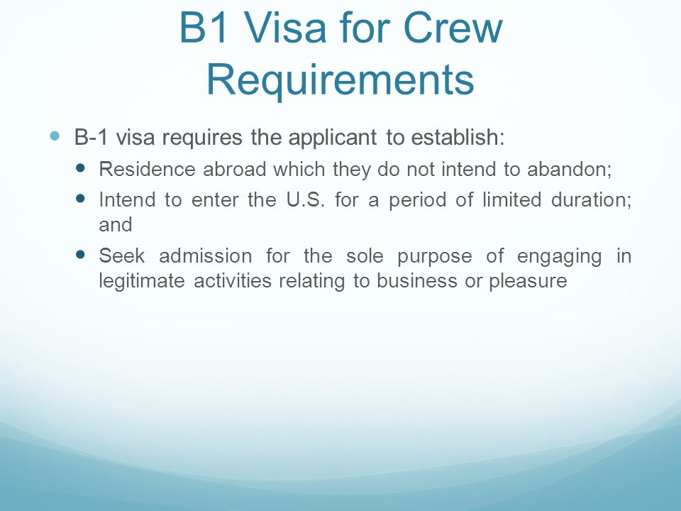 (1) Residence Abroad/Ties Abroad Requirement The term residence is defined as the place of general abode - his principal, actual dwelling place in fact, without regard to intent. Can be difficult to establish if a crewmember has worked on a vessel for years; Documents used to establish residence may be hard to find for crew living on vessels (e.g.