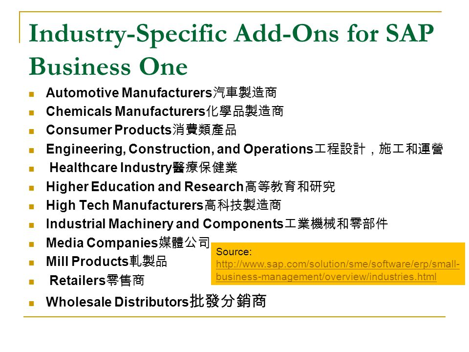 Why study SAP Business One.