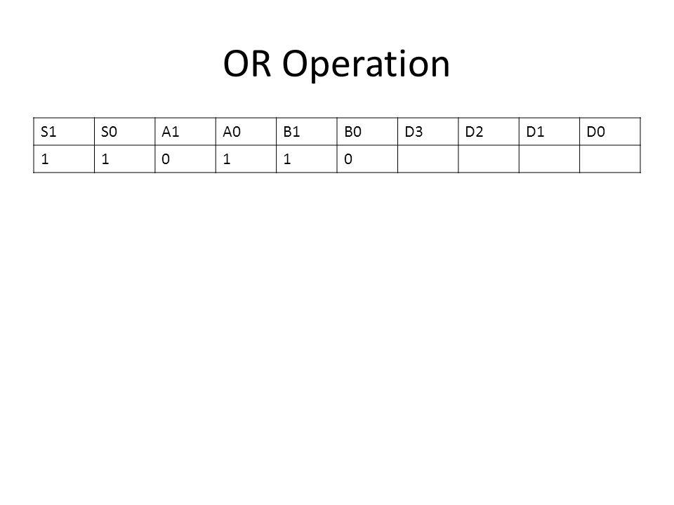 OR Operation S1S0A1A0B1B0D3D2D1D0 110110
