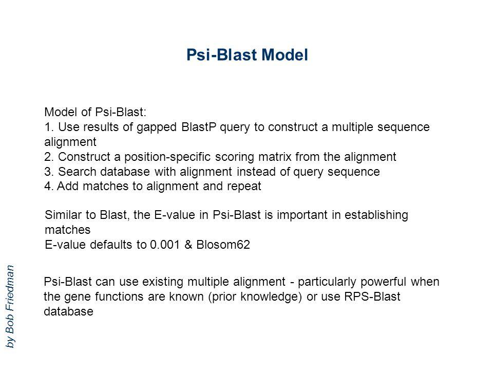 Psi-Blast Model Model of Psi-Blast: 1.