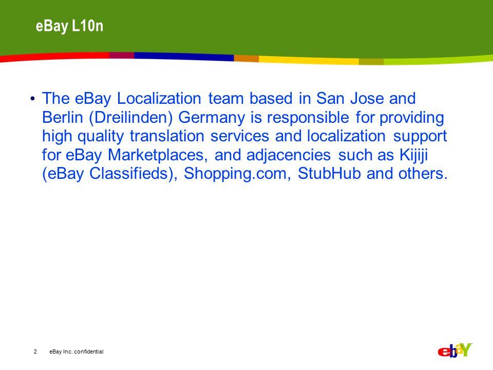 eBay Inc. confidential eBay around the globe: Examples 13