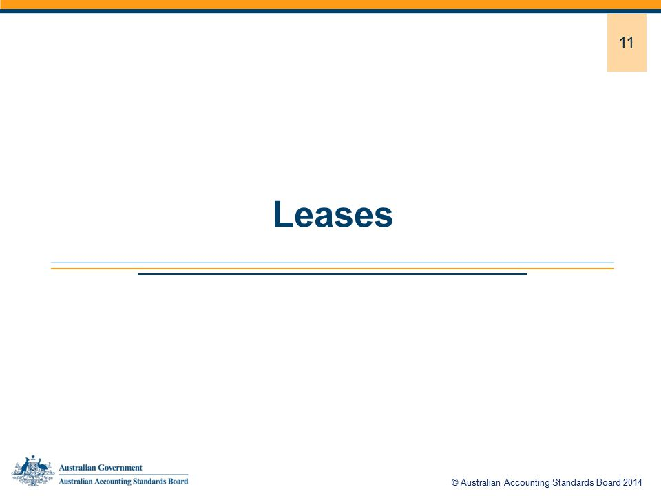 11 Leases © Australian Accounting Standards Board 2014