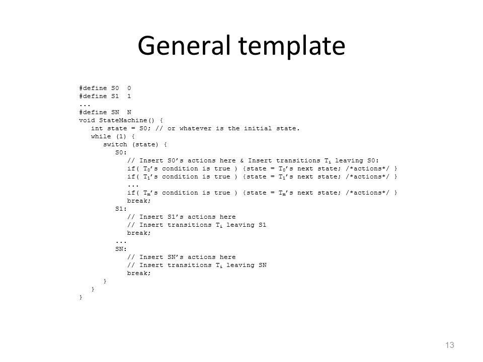 13 General template #define S00 #define S11...
