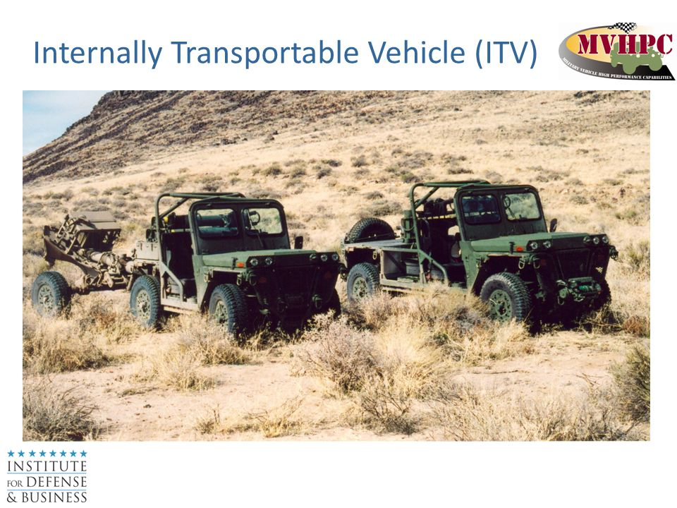 Internally Transportable Vehicle (ITV)