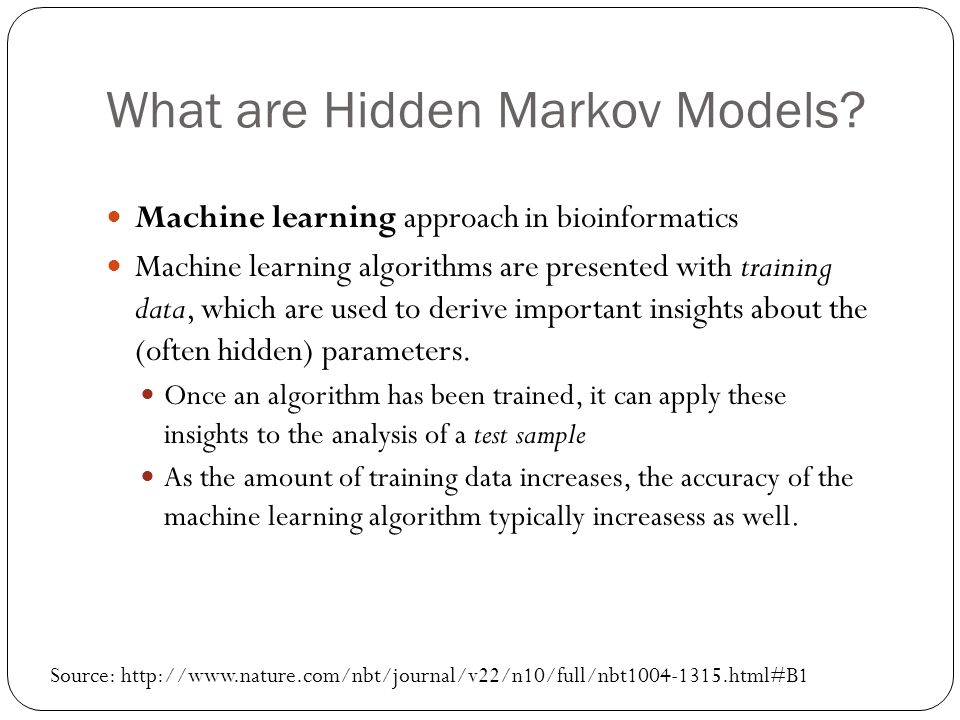What are Hidden Markov Models.