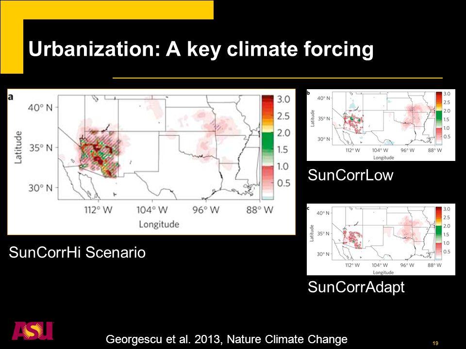 19 Urbanization: A key climate forcing Georgescu et al.