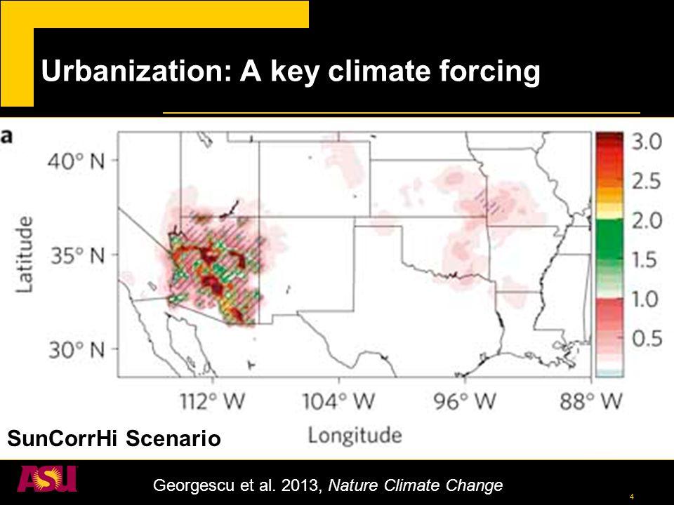 4 Urbanization: A key climate forcing Georgescu et al.