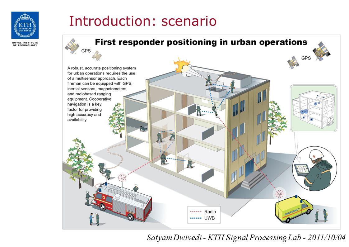 Introduction: scenario Satyam Dwivedi - KTH Signal Processing Lab - 2011/10/04