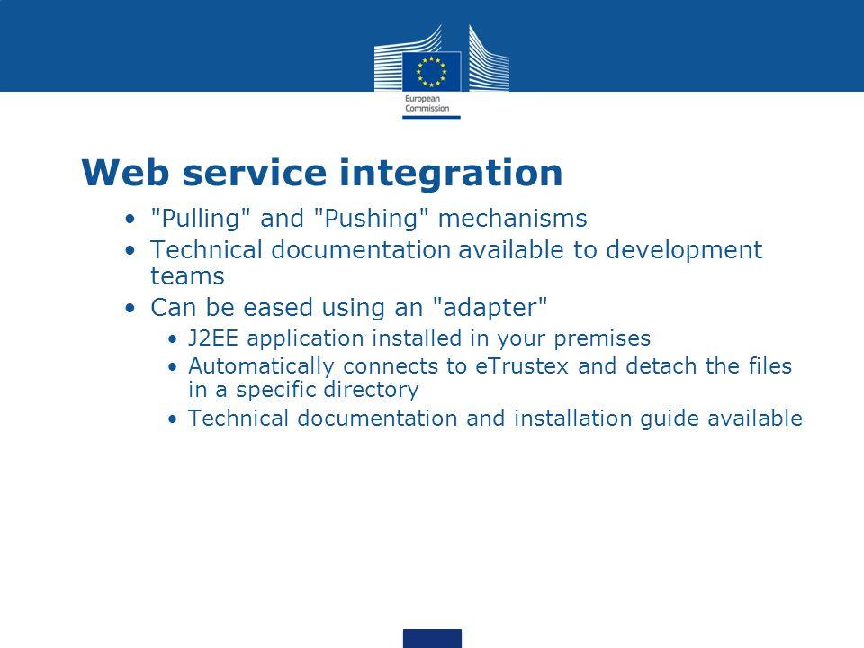 eTrustEx web access