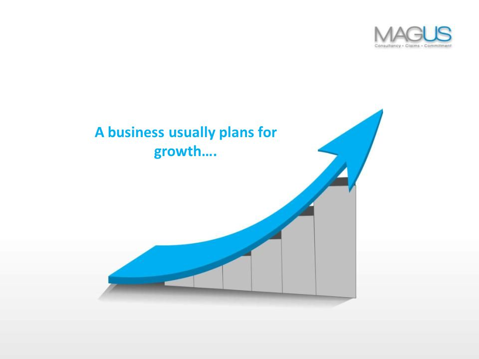 A business usually plans for growth….