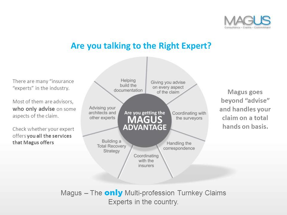 Magus – Claims, Consultancy, Commitment The benefits to your business are many…
