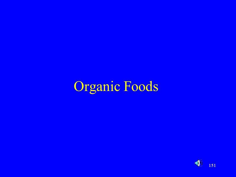 151 Organic Foods