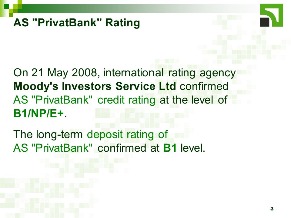 4 AS PrivatBank Asset Structure, EUR 155 686 419 192 217 281 (+23,5%) 177 995 763 (-7,4%) 216 459 091 (+21,6%) 239 714 125 (+10,7%)