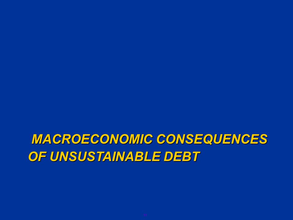 11 MACROECONOMIC CONSEQUENCES OF UNSUSTAINABLE DEBT OF UNSUSTAINABLE DEBT