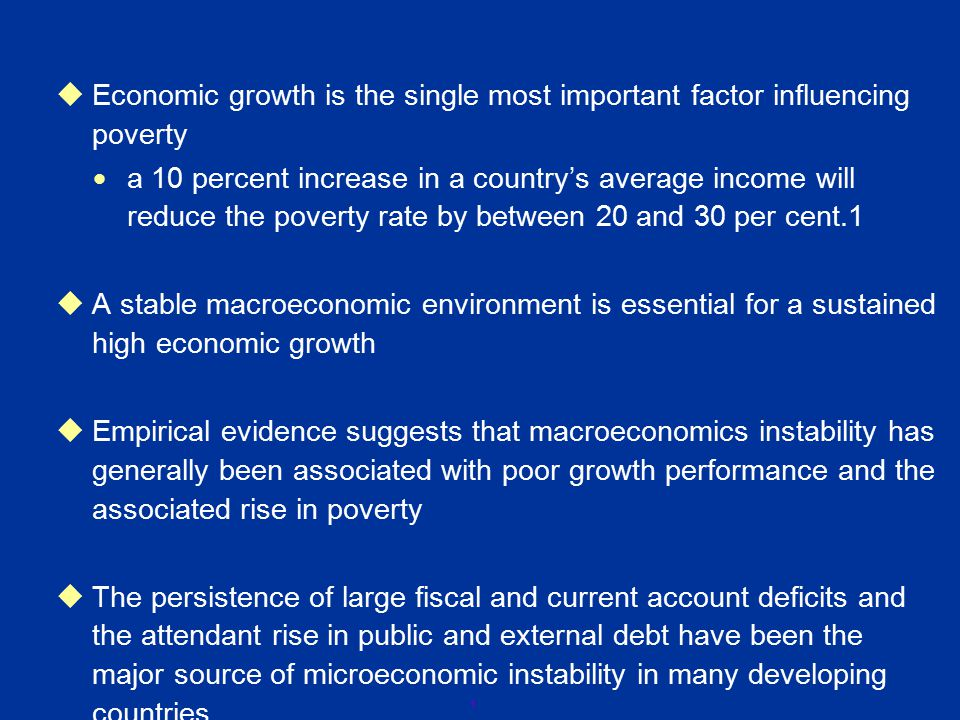2 Summary Persistence of Large Fiscal and CAD Rise in Public and External Debt Major Source of Macro Instability Poor Growth Performance Rise in Poverty