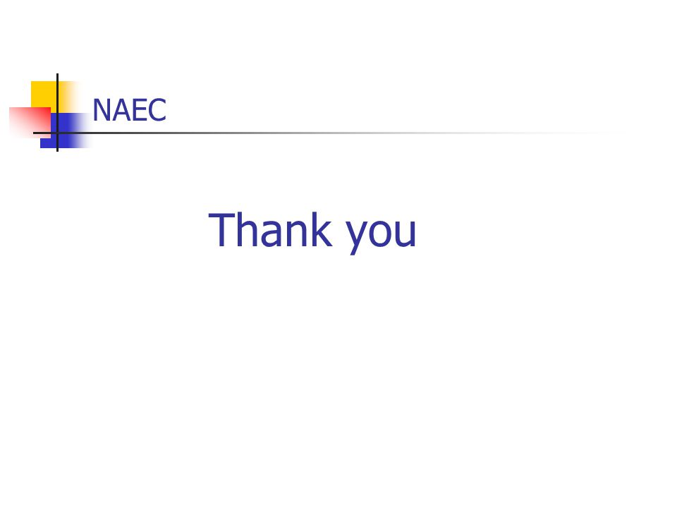 NAEC Thank you