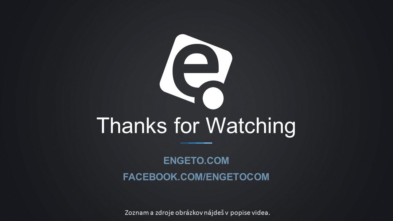 Zoznam a zdroje obrázkov nájdeš v popise videa.