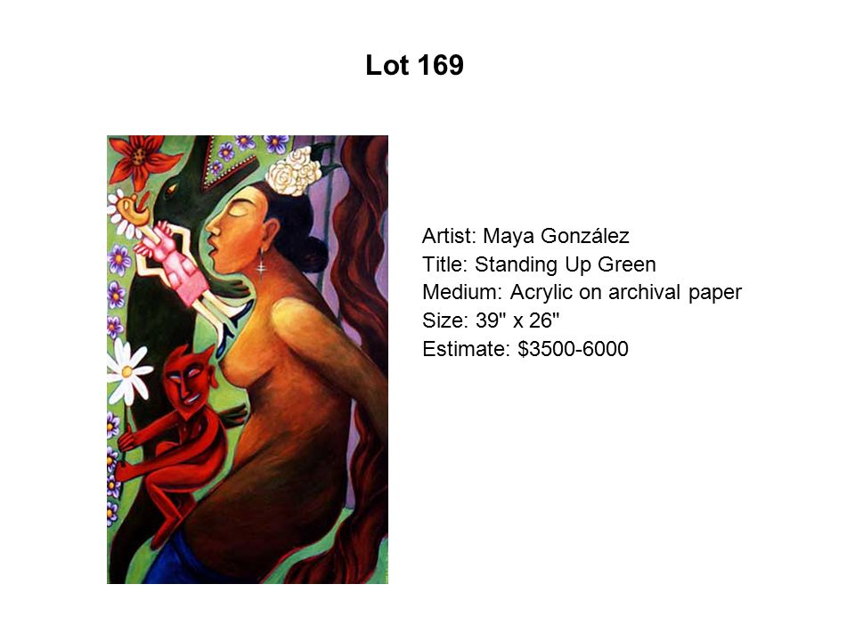 Artist: Maya González Title: Standing Up Green Medium: Acrylic on archival paper Size: 39