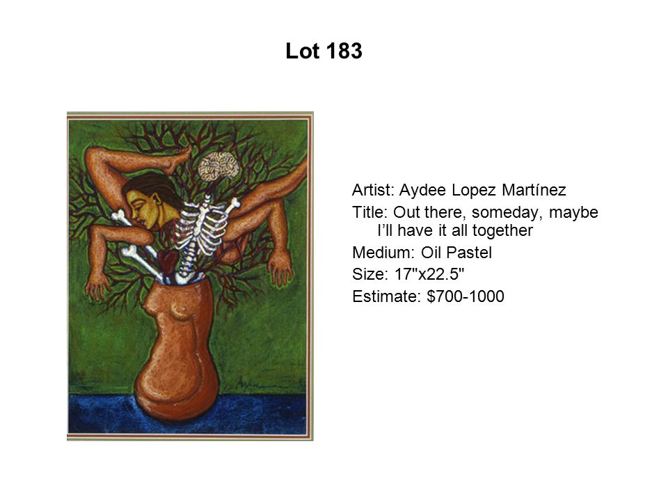 Artist: Aydee Lopez Martínez Title: Out there, someday, maybe I'll have it all together Medium: Oil Pastel Size: 17