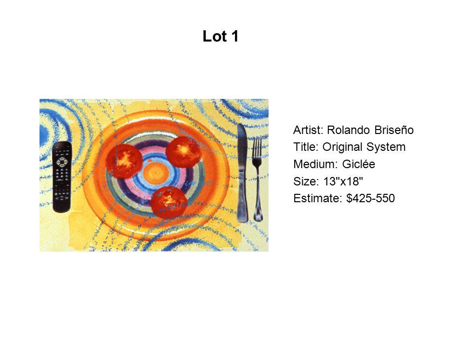 Artist: Dolores Guerrero Title: Jugo de naranja Medium: Serigraph Size: 44 x50 Estimate: $500-750 Lot 182