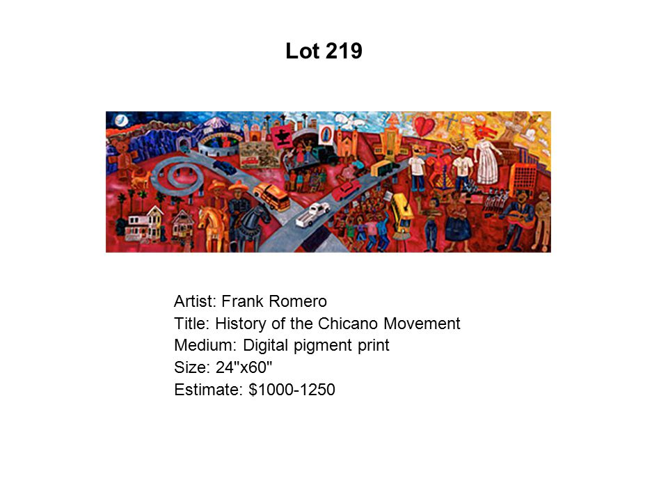 Artist: Frank Romero Title: History of the Chicano Movement Medium: Digital pigment print Size: 24