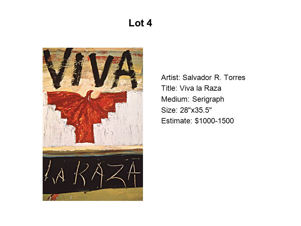 Artist: Benito Huerta Title: Cast of Characters Medium: Serigraph Size: 22 x30 Estimate: $500-750 Lot 15