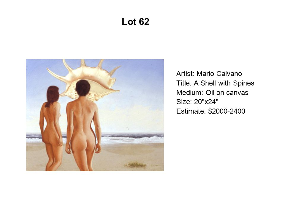 Artist: Mario Calvano Title: A Shell with Spines Medium: Oil on canvas Size: 20