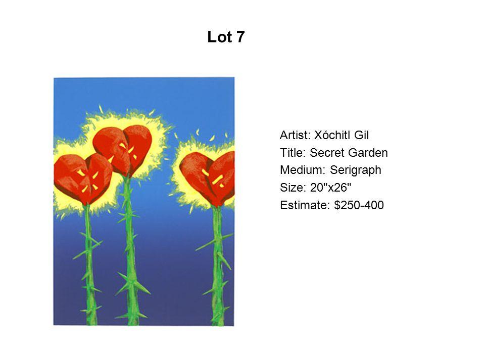 Artist: Daniel Ponce Márquez Title: Doble Medium: Mono silkscreen Size: 26 x20 Estimate: $500-700 Lot 108