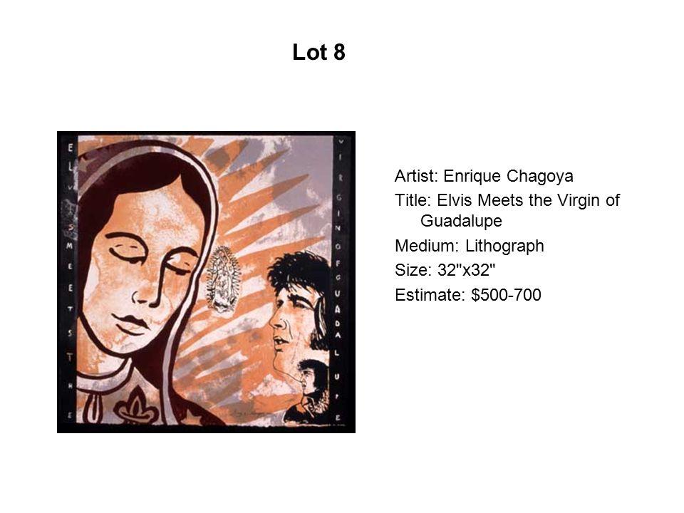 Artist: Daniel Ponce Márquez Title: Por que Medium: Limited edition silkscreen Size: 20 x26 Estimate: $ 600-700 Lot 139