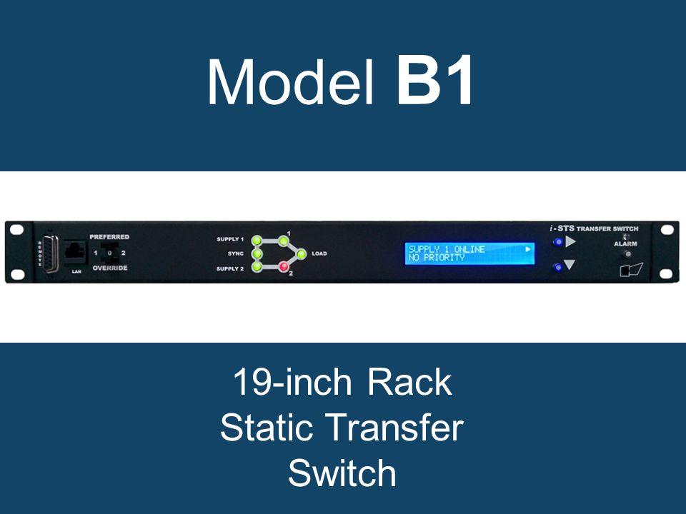 Model B1 19-inch Rack Static Transfer Switch