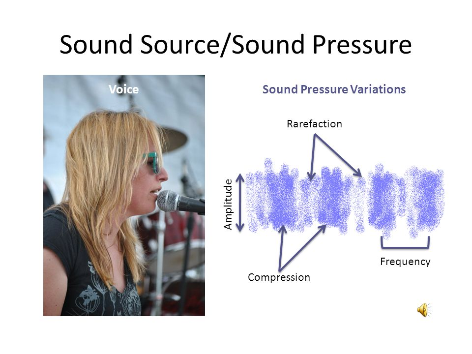 Sound Source/Sound Pressure Compression Rarefaction Amplitude VoiceSound Pressure Variations Frequency
