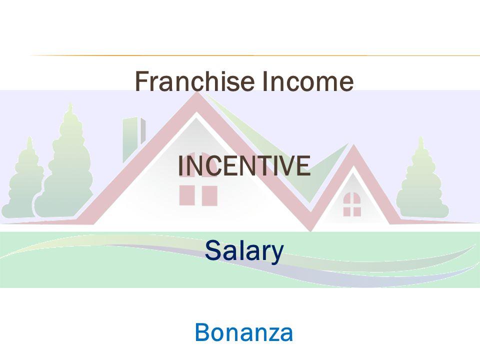 Franchise Income INCENTIVE Salary Bonanza