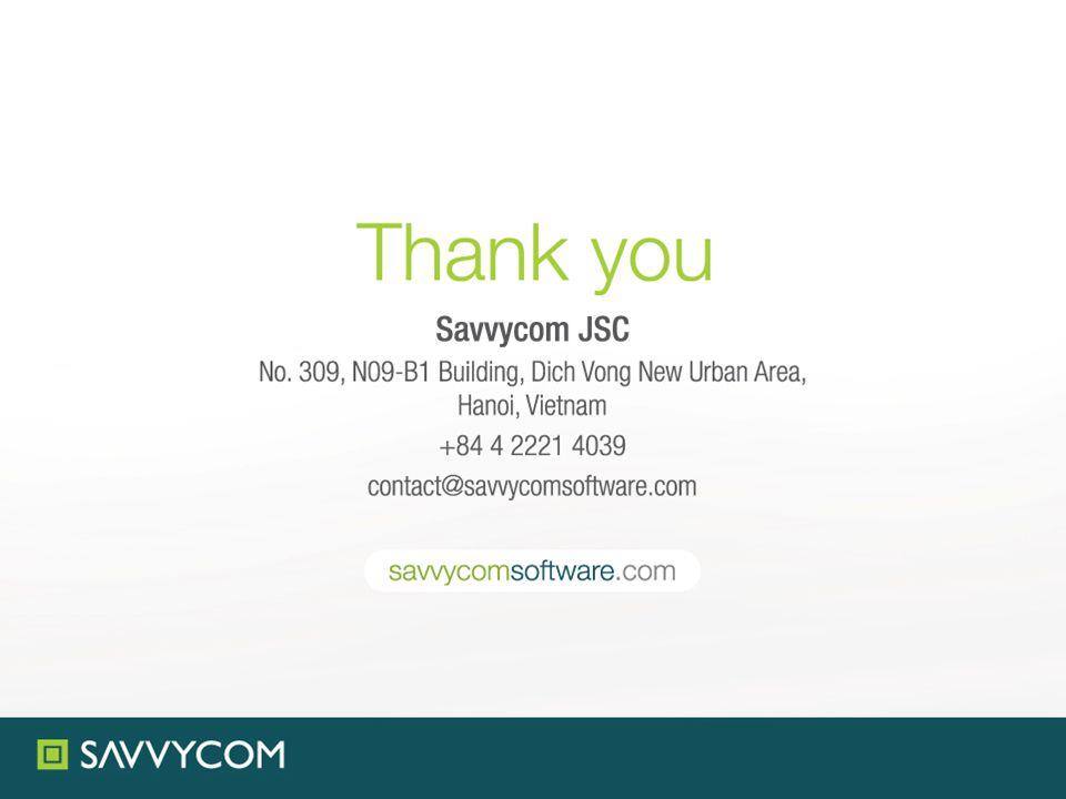 www.savvycomsoftware.com contact@savvycomsoftware.co m Savvycom JSC.