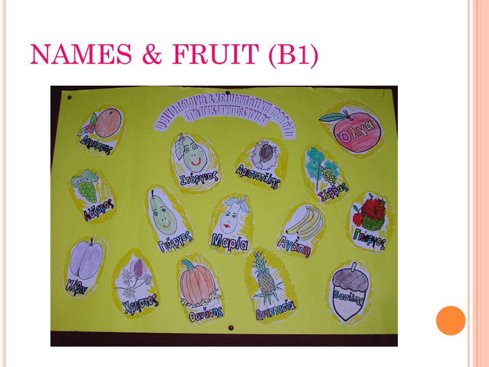 NAMES & FRUIT (B1)