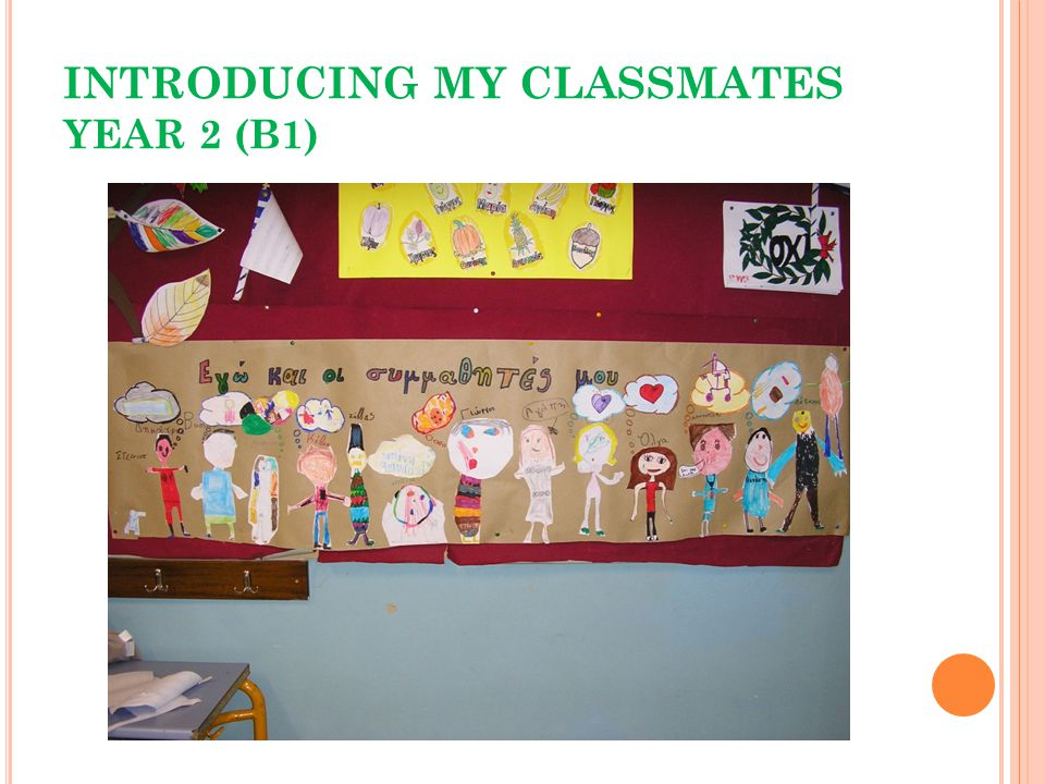 INTRODUCING MY CLASSMATES YEAR 2 (B1)