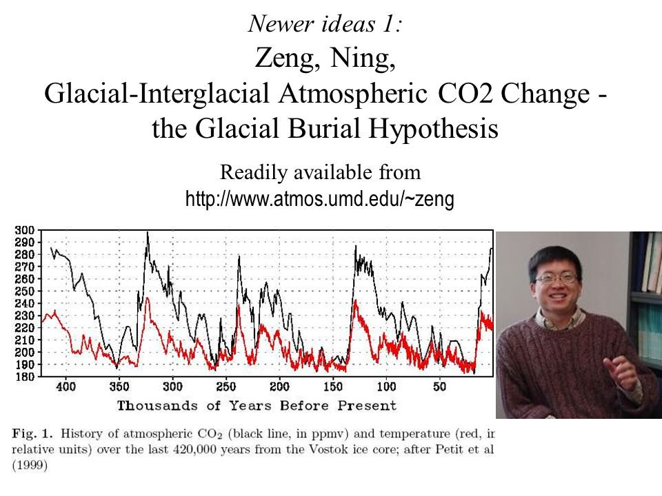Broecker and Henderson, 1998 Tentative conclusions: δ 18 O constrains the rise in atmospheric CO 2 to have preceded the melting of the North American ice sheets.