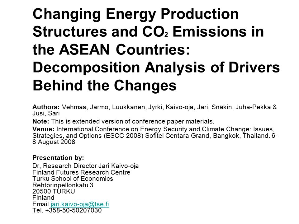 Decomposition of CO 2 emissions from fuel combustion in Vietnam, 1980-2005