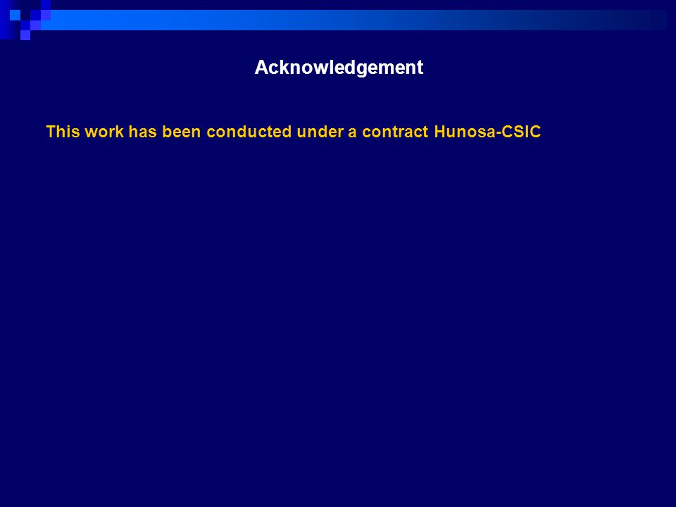 Acknowledgement This work has been conducted under a contract Hunosa-CSIC