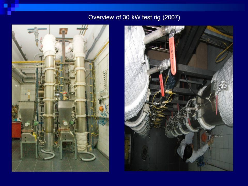 Overview of 30 kW test rig (2007)