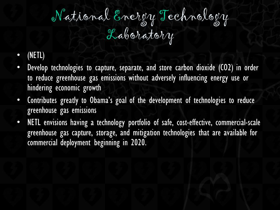 (NETL) Develop technologies to capture, separate, and store carbon dioxide (CO2) in order to reduce greenhouse gas emissions without adversely influen