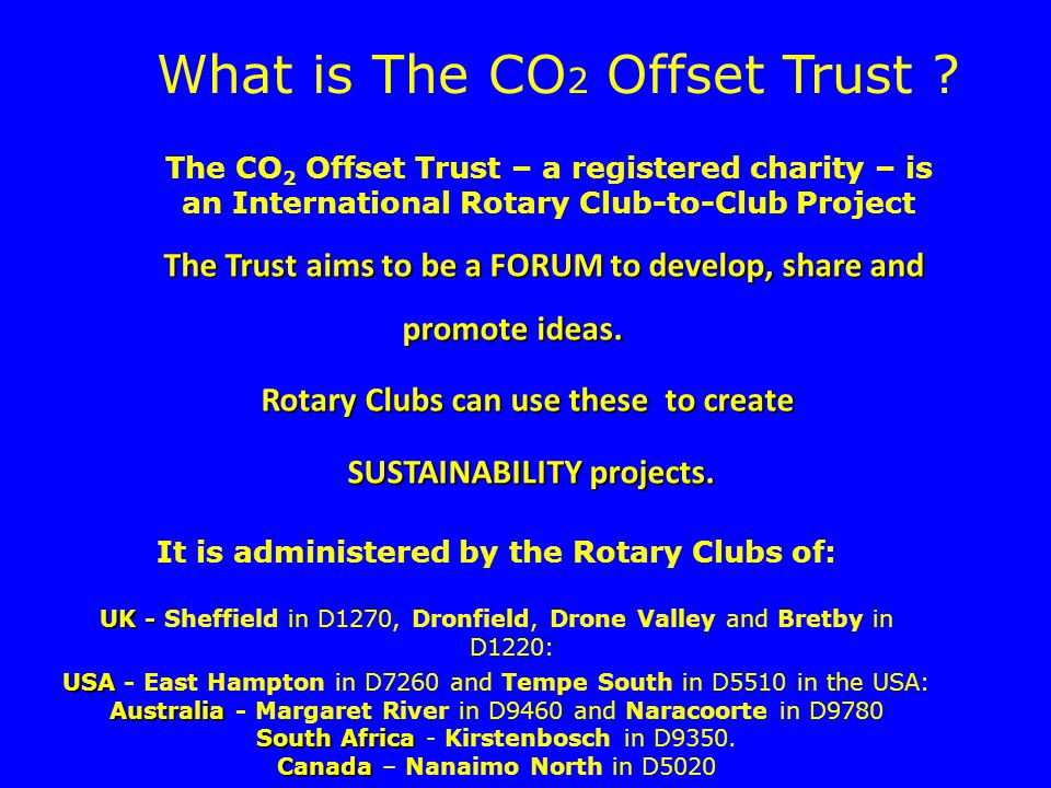 What is The CO 2 Offset Trust .