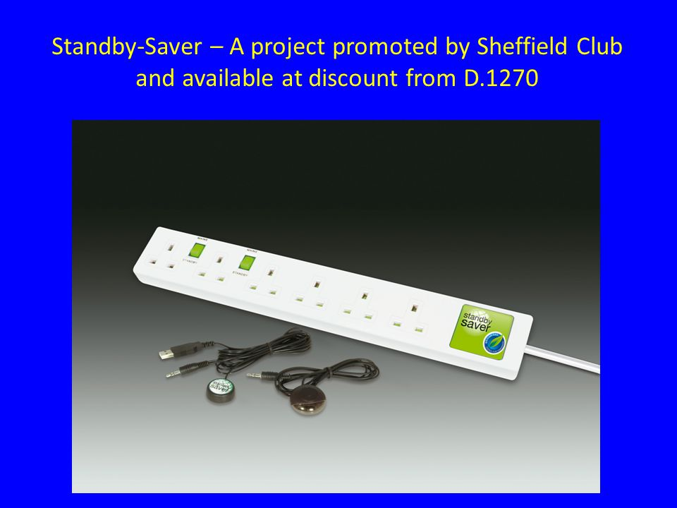 Standby-Saver – A project promoted by Sheffield Club and available at discount from D.1270