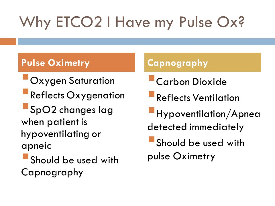Why ETCO2 I Have my Pulse Ox.