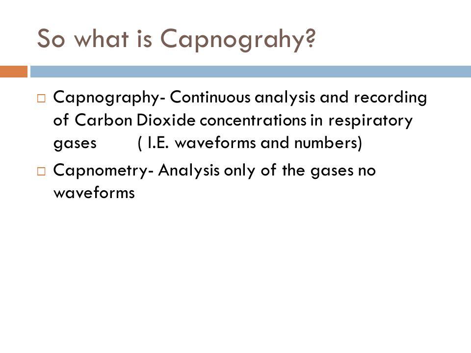 Hypoventilation  Prolonged waveform  ETCO2 >45 mm Hg  Management: Assist ventilations or intubate as needed