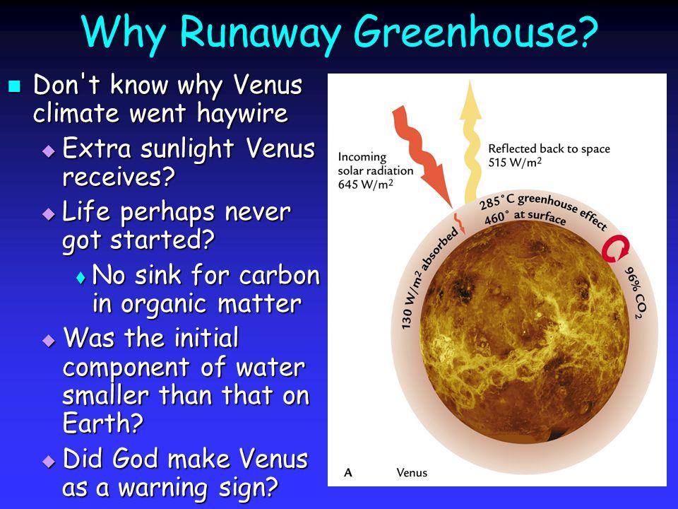 Why Runaway Greenhouse.