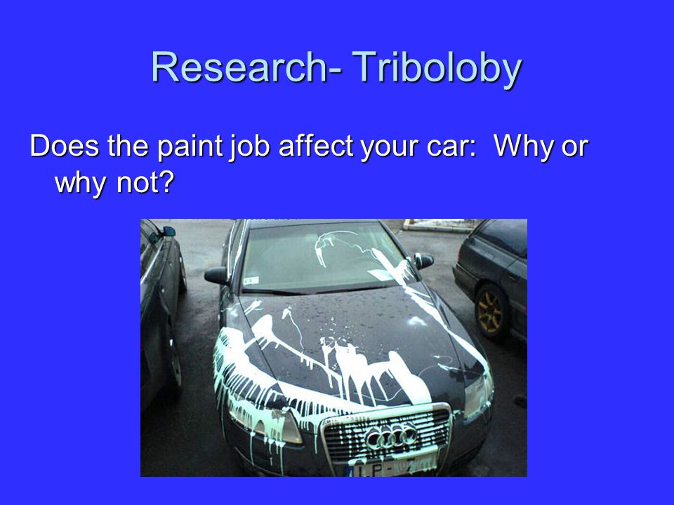 Research- Triboloby Does the paint job affect your car: Why or why not?