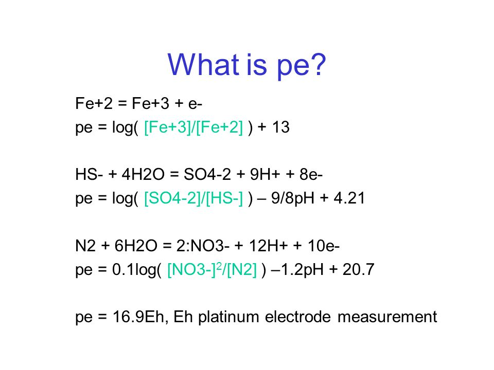 What is pe.