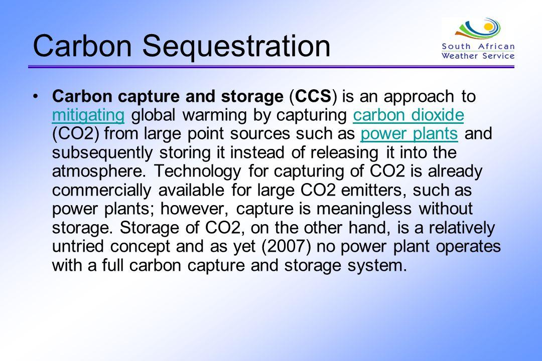 Geological storage options